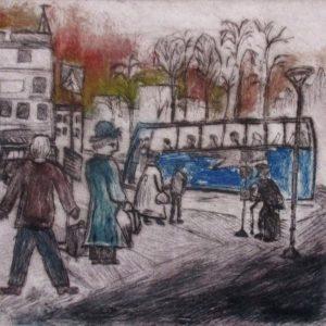 Teoskuva: Joensuu Aleksi - Bussiasemalla