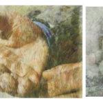 Tatjana Bergelt, Tigran's hands, Armenia, valokuvakollaasi, pigmenttivedos ja piirustus, 42 x 75 cm