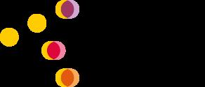 Suomen Taiteilijaseuran logo, jossa eri värisiä palloja.