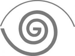 Suomen Taidegraafikoiden logon tunnusosa, joka muistuttaa Fibonaccin kultaista leikkausta.