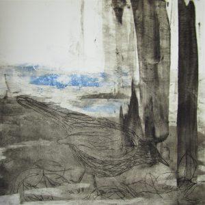 Teoskuva: Kaustinen Marianne - Mustarastas talvella I