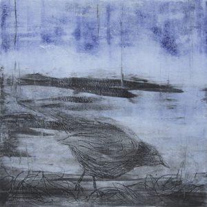 Teoskuva: Kaustinen Marianne - Mustarastas talvella II