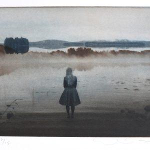 Teoskuva: Isomaa Eeva-Liisa - Tyttö rannalla, kaamos