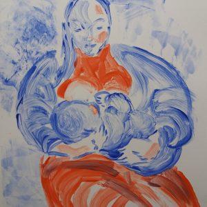 Teoskuva: Ilveskorpi Liisa - Äiti ja lapsi